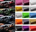 30 cm * 127 cm De Fibra De Carbono 3D Folha de Embrulho Carro de Vinil De Fibra De Carbono Decoração Adesivo de Carro Preto Branco Vermelho Estilo do carro 13 cores