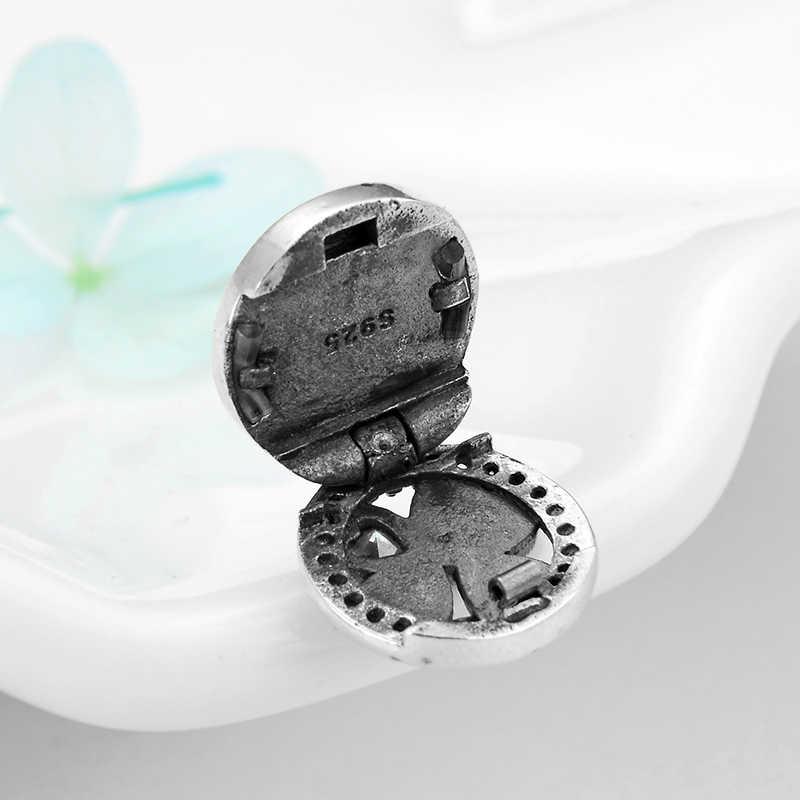 Heißer verkauf 925 Sterling Silber Herzen Vier-leaf clover Charms Clips Perlen fit Original silber 925 reflexionen Armbänder Schmuck