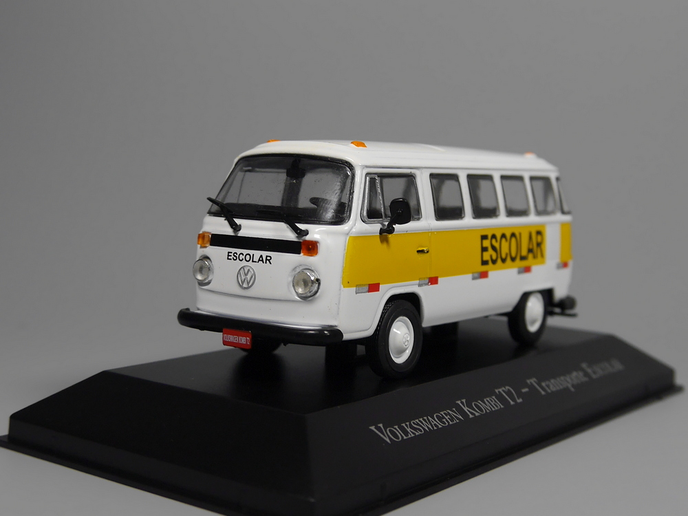 Altaya 1:43 V-W Kombi T2 Transporte Escolar Diecast Models Collection Car IXO