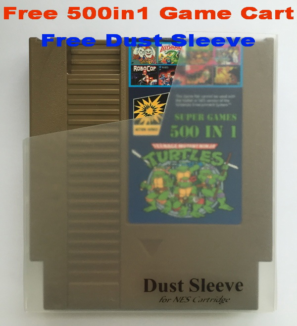 Free 500 in 1 Game Cart 72 Pins NES Game Cartridge Replacement Plastic Shell Free Dust
