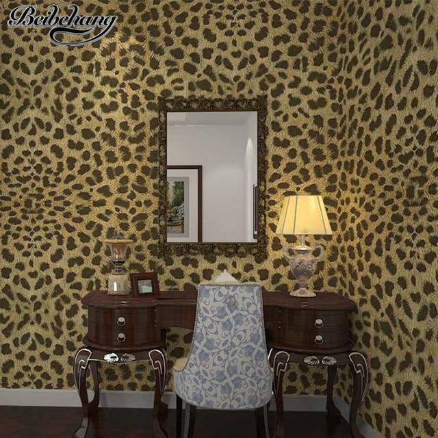 beibehang 3d richesse stries tridimensionnel animal tigre l opard papier peint magasin de. Black Bedroom Furniture Sets. Home Design Ideas