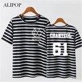 ALIPOP Kpop K-POP EXO PLANETA #3 EXODIUM Álbum de Concerto Da Listra Camisas Roupas Camisa Camiseta T Tops de Manga Curta T-shirt DX395