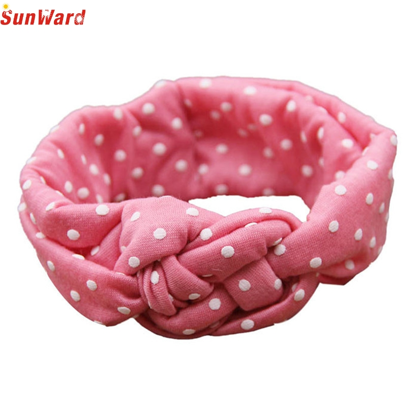 Newly Design 2015 Fashion Headband Children Dot Cross Weave Twist Head Bands Baby Hair Accessories Aug4