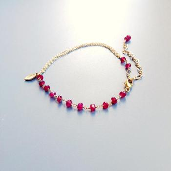 Red Ruby Bracelet 925 Sterling Silver 18K Gold Plated 2