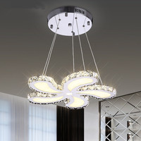 Simple Modern LED Crystal Lamp Flower Ceiling Lamps Warm Living Room Bedroom Study Lighting Ceiling Light