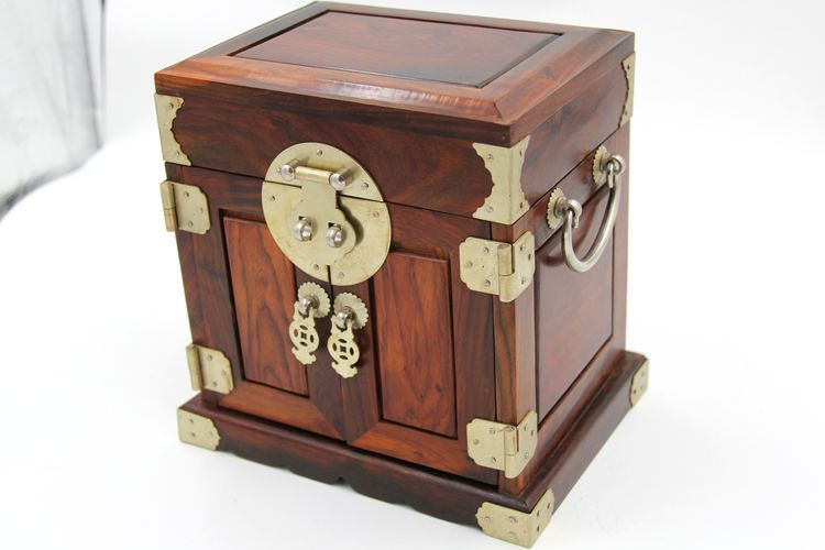 Laos plaine rouge boîte à bijoux en bois boîte à bijoux de mariage boîtes agent valise en bois artisanat favoris Accueil