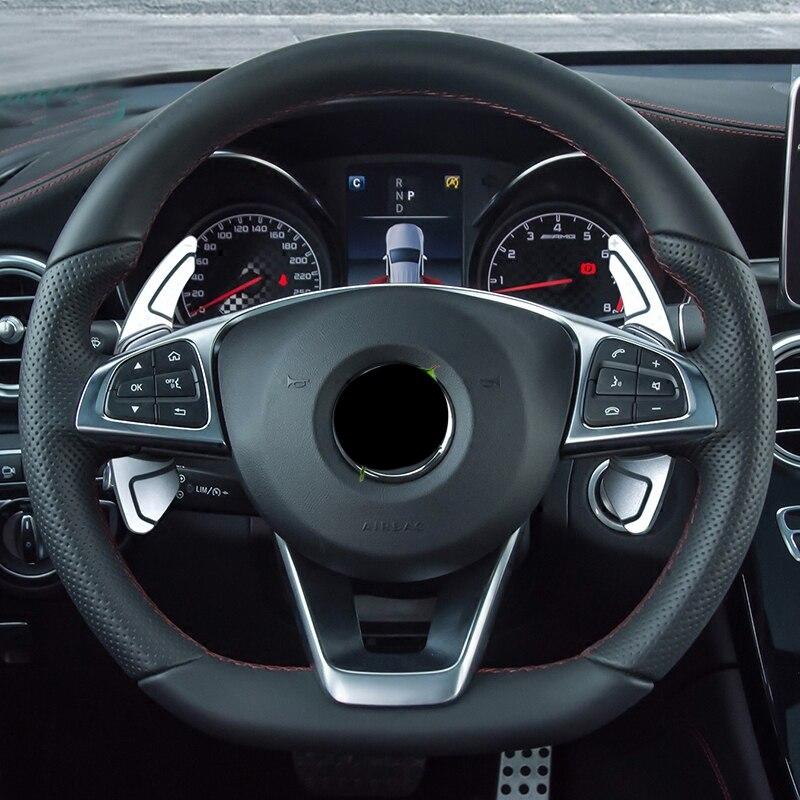 Pour mercedes-benz W213/w205/w117/c117/glc/cla/gla accessoires de palette de changement de volant modifiés pour autocollants de voiture Mercedes