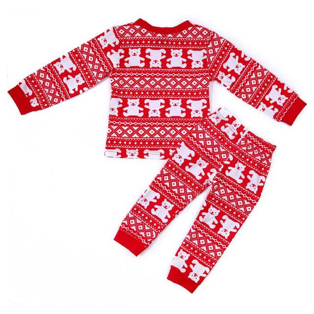 9d4b46970 Family Christmas Pajamas Matching Outfits Baby Mom Dad Clothes Set New Year  Costume Winter Warm Holiday