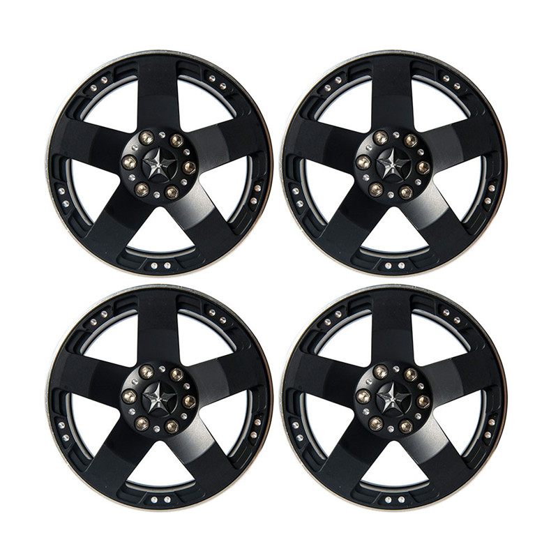 4PCS 2.2 Inch RC 1:10 Rock Crawler Alloy Wheels Rims For RC Crawler Axial SCX10 Wraith 90018 Beadlock Wheels Hub Free Ship 1 10 inflatable tires 4p set air pneumatictires with alloy beadlock wheels set f rc crawler rock crawler tires toy cars parts