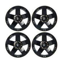 4PCS 2.2 Inch RC 1:10 Rock Crawler Alloy Wheels Rims For RC Crawler Axial SCX10 Wraith 90018 Beadlock Wheels Hub Free Ship
