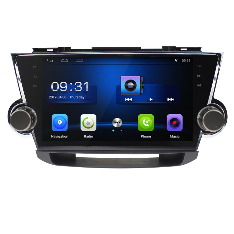 10 2 Quad Core Android 6 0 1G RAM Car Radio for Toyota Highlander Kluger 2008