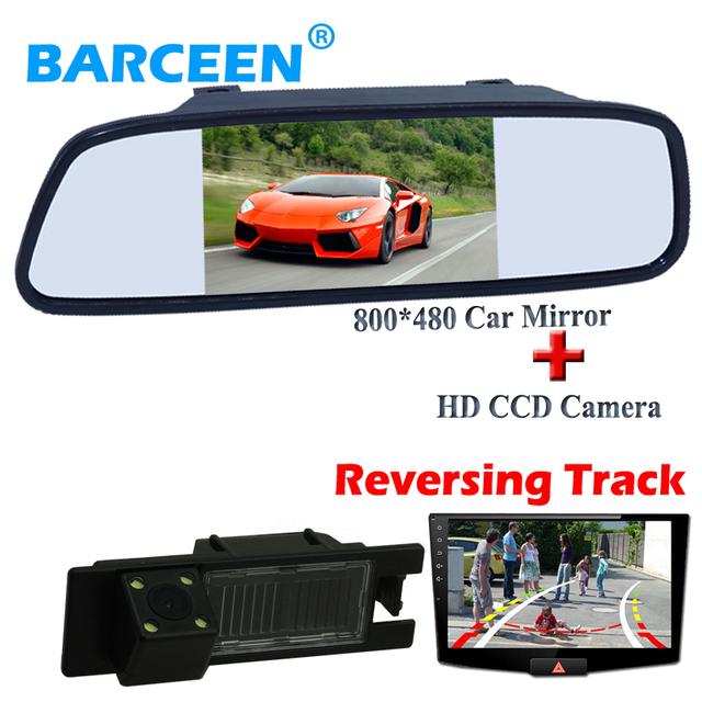 """5 """"espelho + câmera de segurança do carro de estacionamento 4 levou linha de faixa Dinâmica para Opel Astra H/Corsa D/Meriva A/Vectra C/Zafira B/FIAT"""