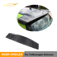 Carbon Fiber Rear Trunk Roof Lip Wing Window Spoiler for Volkswagen VW Scirocco 2008 2013 Car Styling V Style