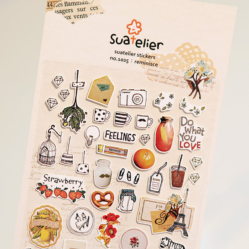 SONIA Reminisce Paper Sticker Package DIY Diary Decoration Sticker Album Scrapbooking