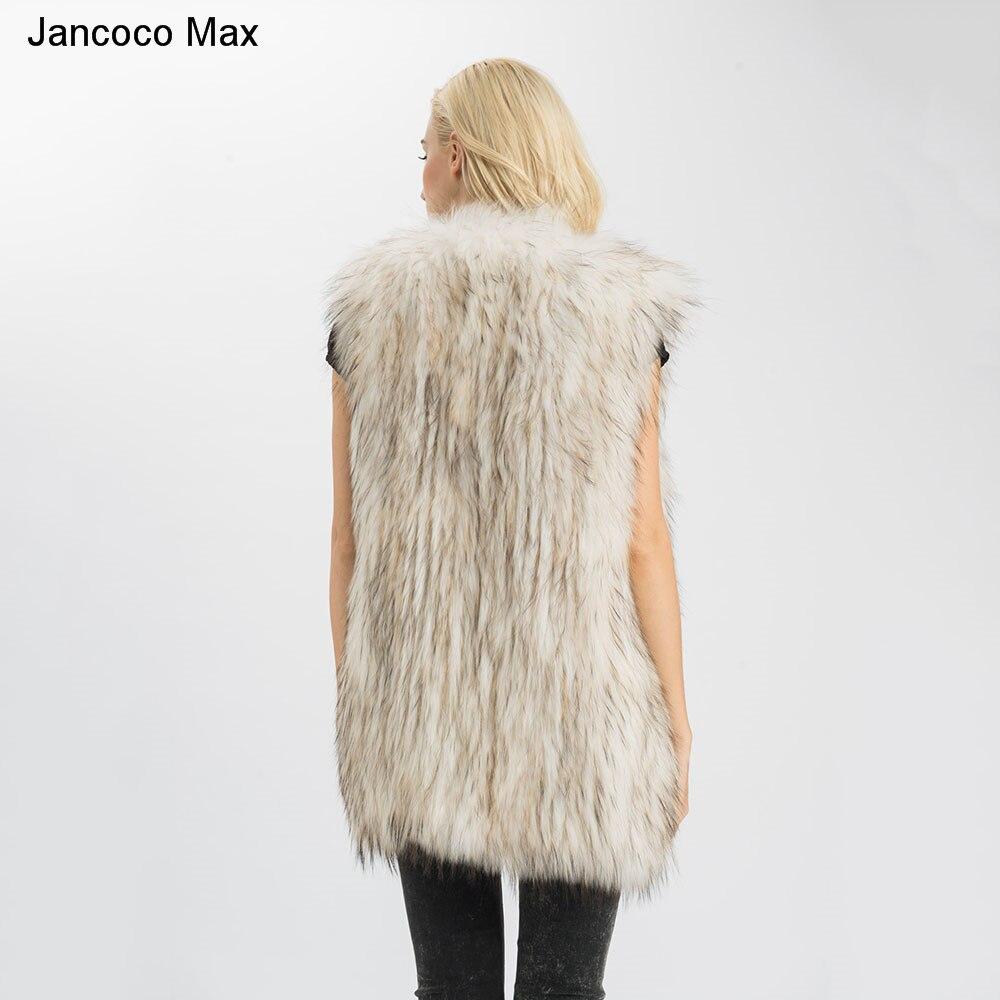 black Gros Max Réel Femmes En Gilet S1540 Fourrure Veste Tricoté Raton White Longues Jancoco natural retial De Color D'hiver Laveur Mode Lady Style xBWnp6wqz4