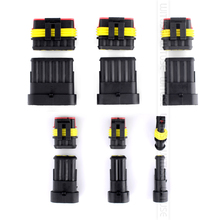 цена на 5 Kits 1/2/3/4/5/6 Pin Way Male Female Sealed Waterproof Automotive/Marine Electrical Wire Connector Plug Set Car Truck Kit