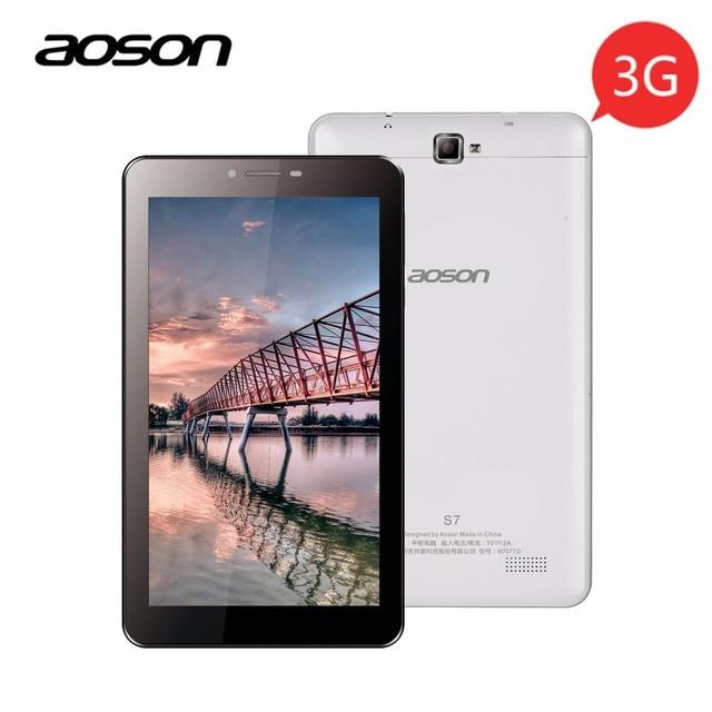 Aoson S7 2 г 3 г 7 дюймов Телефонный звонок Планшеты шт 1 ГБ 8 ГБ Android 5.1 1024*600 4 ядра dual sim двойной камерой GPS WI-FI Bluetooth Phablet