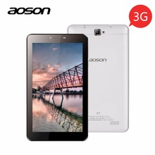 Buy Aoson S7 2G 3G 7 inch Phone Call Tablet PCs 1GB 8GB Android 5.1 1024*600 Quad Core Dual SIM Dual Cam GPS WIFI Bluetooth Phablet