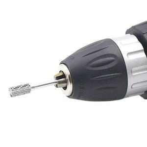 Image 2 - 1pc 1/8 טונגסטן קרביד 3x6mm מקדחי רוטרי קוצים מתכת יהלומי טחינה נגרות כרסום Cutters עבור מקדחי