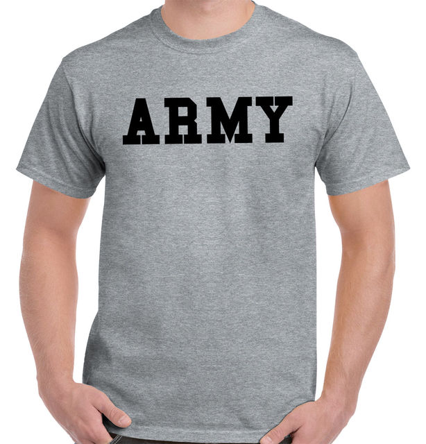 US $14 76 |OKOUFEN US Army Navy Air Force USAF Marines Physical Trainer PT  T T Shirt Tee T Shirt Style Funny T Shirt Male Tops-in T-Shirts from Men's