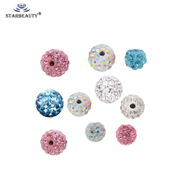 5Pcs/lot 3/4/6/5/8mm Epoxy Crystal Threaded Piercing Ball Parts Belly Labret Eyebrow Nose Nipple Horseshoe Tongue Ring Piercings