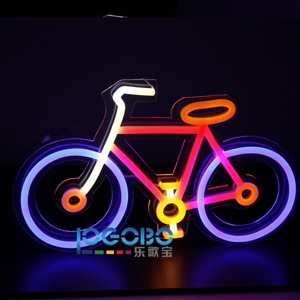 Առաջնորդված Neon Sign հեծանիվ ձեռքի - Կոմերցիոն լուսավորություն - Լուսանկար 4