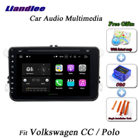 Liandlee Car Android System For Volkswagen CC / Polo Radio BT Wifi CD DVD Player GPS Nav Navi Navigation HD Screen Multimedia