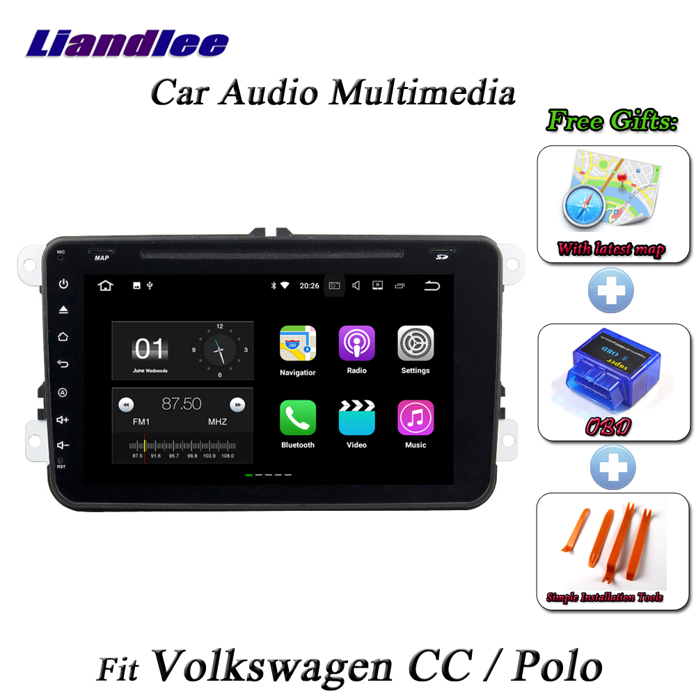 Liandlee Car Android System For Volkswagen VW CC / Polo Radio BT Wifi CD DVD Player GPS Nav Navi Navigation HD Screen Multimedia