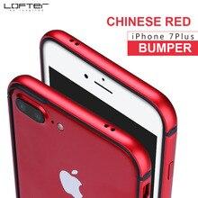 Lofter китайский красный ультра тонком Алюминий бампер для iPhone 7 7 Plus тонкий металлический Рамка телефона чехол силиконовый чехол Coque capinha принципиально