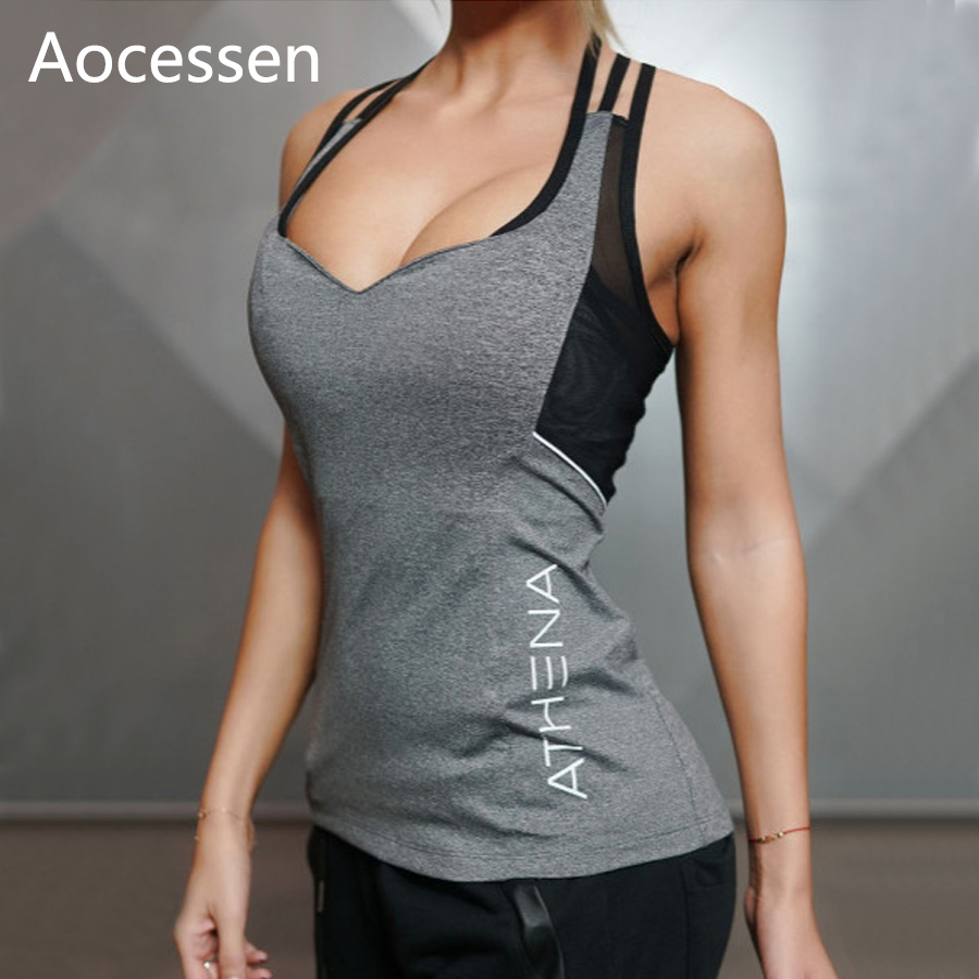 Aocessen Yoga Tops Gym Compression Vest Women's Sport T-shirt Top Dry Quick Running Short Sleeve Fitness Women Yoga t-shirts yoga top sport t shirt women quick dry fitness clothing yoga shirt sports jerseys gym running boxing tank tops