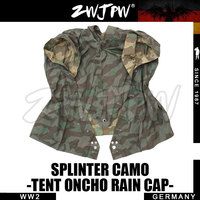 WW2 WWII WH MILITARY ARMY SPLINTER OUTDOOR TACTICALCAMOUFLAGE TENT PONCHO RAIN CAP DE/505112