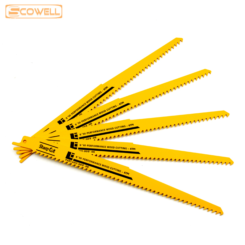 30% Off 9 Inch Reciprocating Saw Blades 6TPI Fast Cutting Wood Plastic Sabre Saw Blades For Reciprocation Jigsaw Blade Steel Saw