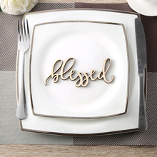 Blessed Place Cards,Blessed sign,Thanksgiving table setting,Holiday Decor Thanksgiving settings,Small wood Sign