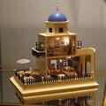 Diy 1/12 3D Деревянный Кукольный Домик Миниатюре Мебели Деревянной куклы свет Миниатюрный Кукольный Дом Игрушки Подарки Дома игрушки Подарок На День Рождения