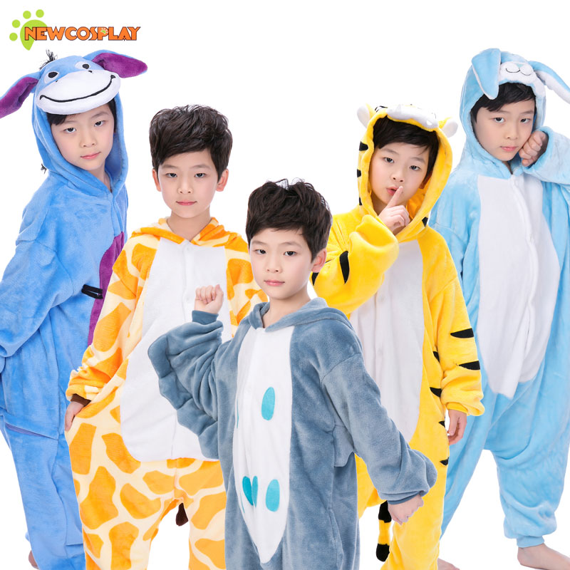 Newcosplay Kinderen Hooded Animal Jumpsuit Jongens Nachtkleding - Carnavalskostuums