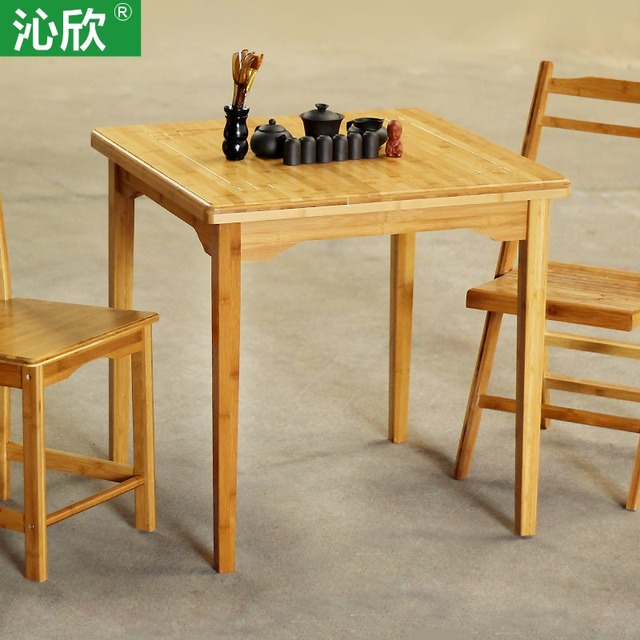 qin yan bamboo large square table wood dining table minimalist modern home fashion simple four - Square Wood Dining Table