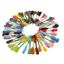 50 Anchor Cross Stitch Cotton Embroidery Thread Floss Sewing Skeins Craft-