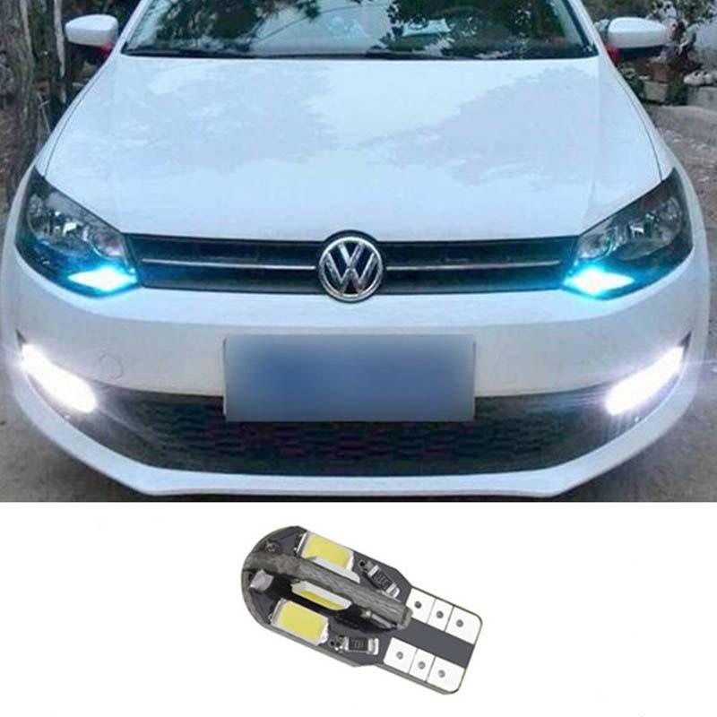 1pcs T10 W5W 8SMD 5730 LED Parking Lights Sidelight No Error For Volkswagen VW Golf Polo Jetta Bora Passat 3C CC Tiguan Eos