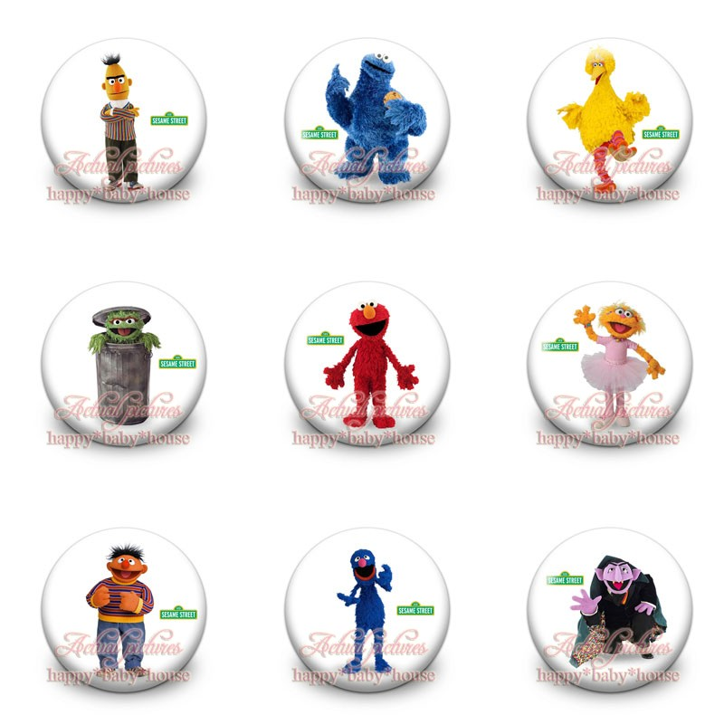 Luggage & Bags Hot Sale 90pcs Sesame Street Novelty Buttons Pins Badges Round Badges,30mm Diameter,accessories For Clothing/bags,party Gifts
