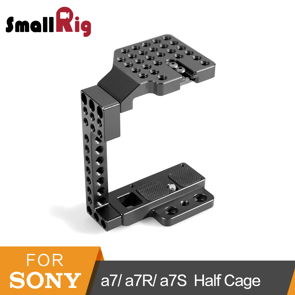 SmallRig Half Cage for Sony a7/a7R/a7S Camera Cage (Top Plate+Bottom Plate+Side Plate+Cold Shoe)-1633