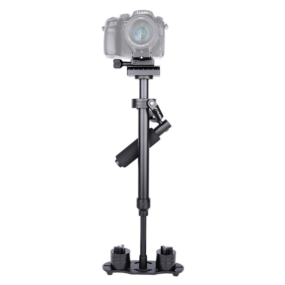 S60N Professional Portable Carbon Fiber Mini Handheld Camera Stabilizer DSLR DV Camera Camcorder Video Steadicam portable 2 axis handheld stabilizer video gimbal steadicam steady for dslr camera dv bmpcc