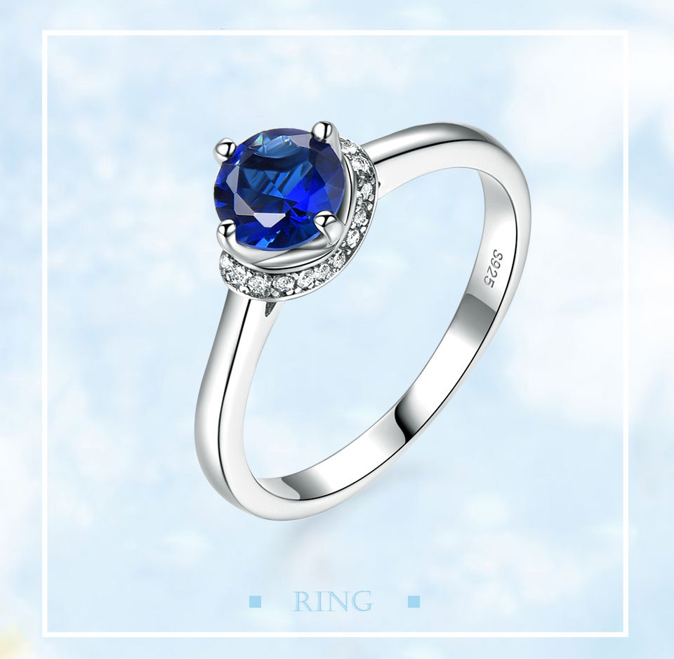 Honyy Sapphire 925 sterling silver rings for women RUJ090S-1-pc (1)
