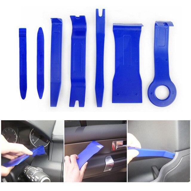 7 Pcs סט כלי פלסטיק רכב תיקון כלי Voiture בתוך דלת קרש מנוף אוטומטי דלת כלים להסרת סטריאו לרכב פירוק כלי קיט