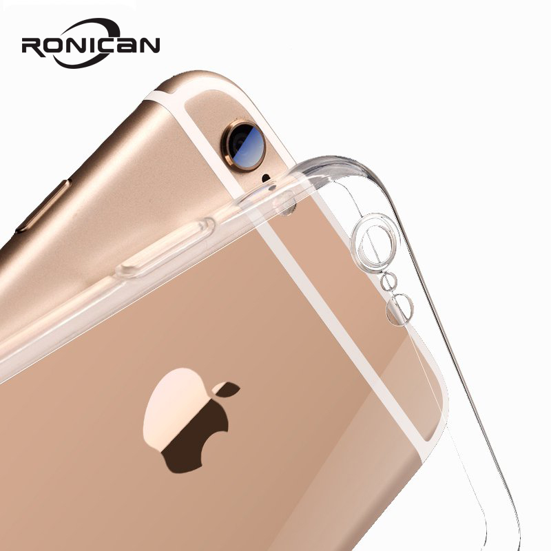 For Apple iPhone 7 Case Protect Camera Phone Cases For iPhone 6 8 5 5s X TPU Case Transparent Back Cover For iPhone 8 6s 7 Plus
