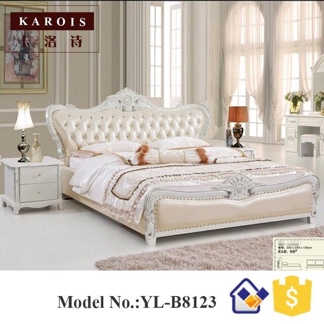 розовый европейский дизайн мебель кровать деревянная двуспальная
