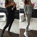 2Pcs Casual Women Tracksuit Sportswear Tops& Pants Sweatshirt Womens For Jogger S72