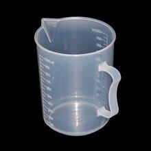 250/500/1000/2000ml прозрачный Кухня лаборатории Пластик мерный стаканчик градуированный мерный контейнер инструмент 1 шт