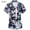 Цветочные Печати Мужчины Рубашка 2017 Летний Новый Модные Мужские Короткие рукава Рубашки Повседневные Высокое Качество Мужской Рубашки Плюс Размер М-6XL 7XL