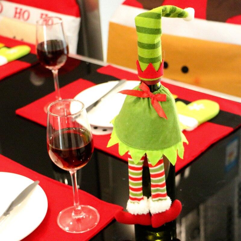 Regalo creativo Bolsas Navidad dot Stripe vestido patrón botella de ...