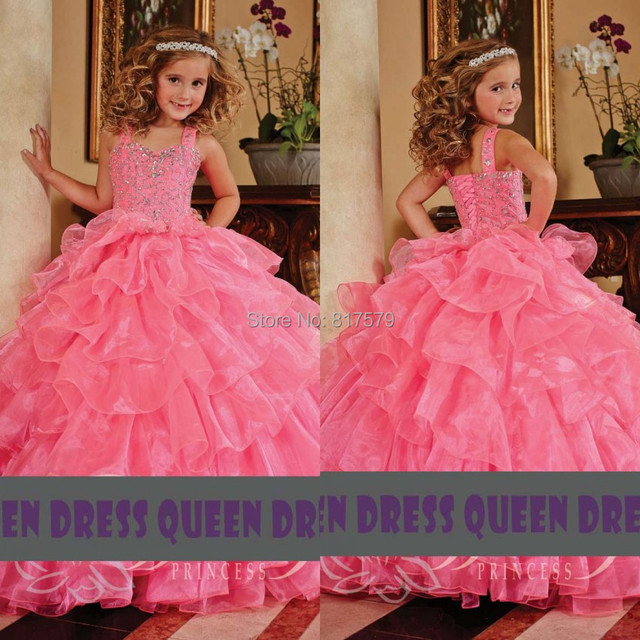 ef6ecd9258db New Fashion Ball Gown Floor Length Beading Litter Queen Coral Pink ...